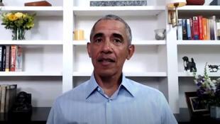 L'ancien président américain Barack Obama lors d'une vidéoconférence le 3 juin 2020.