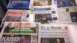 Diários franceses 07/05/2015