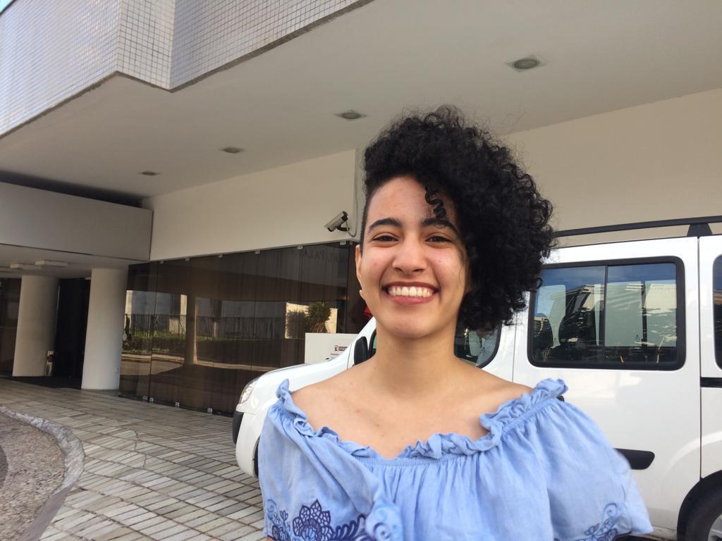 A estudante de Direito Raíra Cavalcanti, diretora operacional do Politiquê.