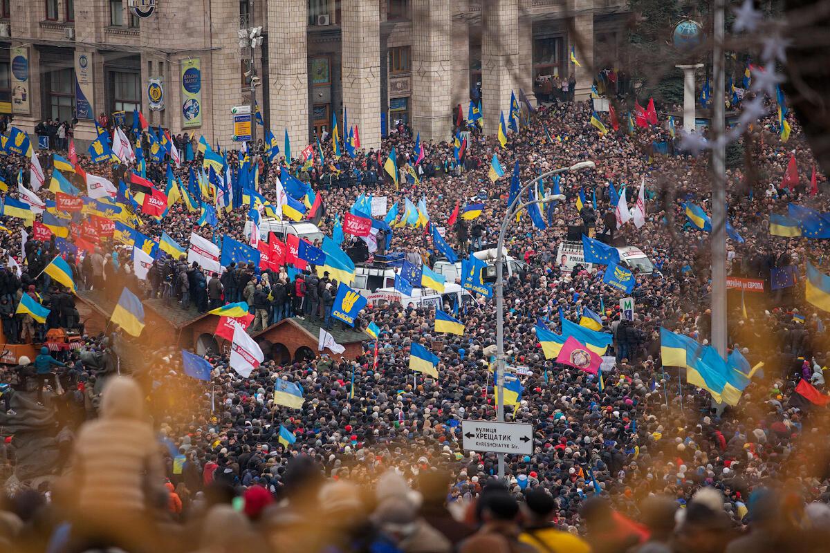 Euromaidan in Kiev on 1 December 2013