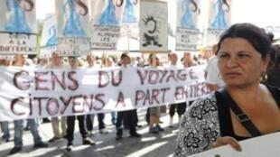 Biểu tình phản đối chính sách nhập cư của chính phủ Pháp ngày 4/9/2010.