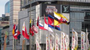 Quốc kỳ các nước ASEAN tại Indonesia.