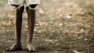 Niño en Kenia.