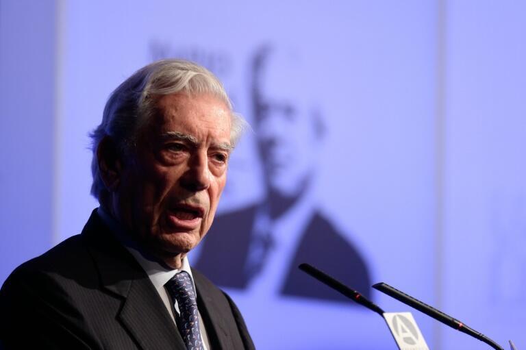 Mario Vargas Llosa, premio Nobel de Literatura peruano, en Madrid el 29 de marzo de 2016