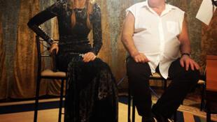 "Depardieu at a recoding session with Gulnarova ""Googoosha"" Karimova"