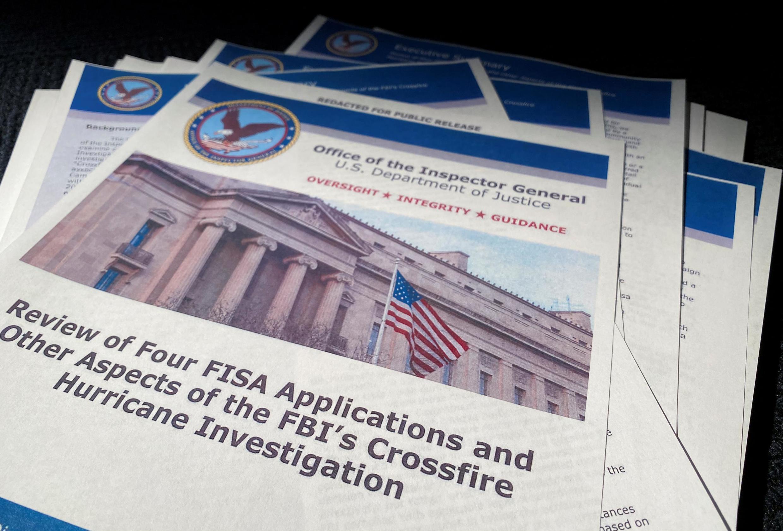Báo cáo của tổng thanh tra bộ Tư Pháp Mỹ Michael Horowitz, được công bố tại Washington, ngày 09/12/2019.