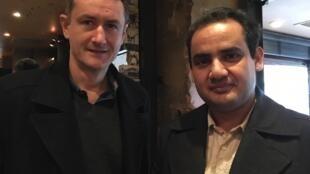 Louis Meunier et Omid Rawendah (réalisateur et acteur) du film « Kabullywood ».