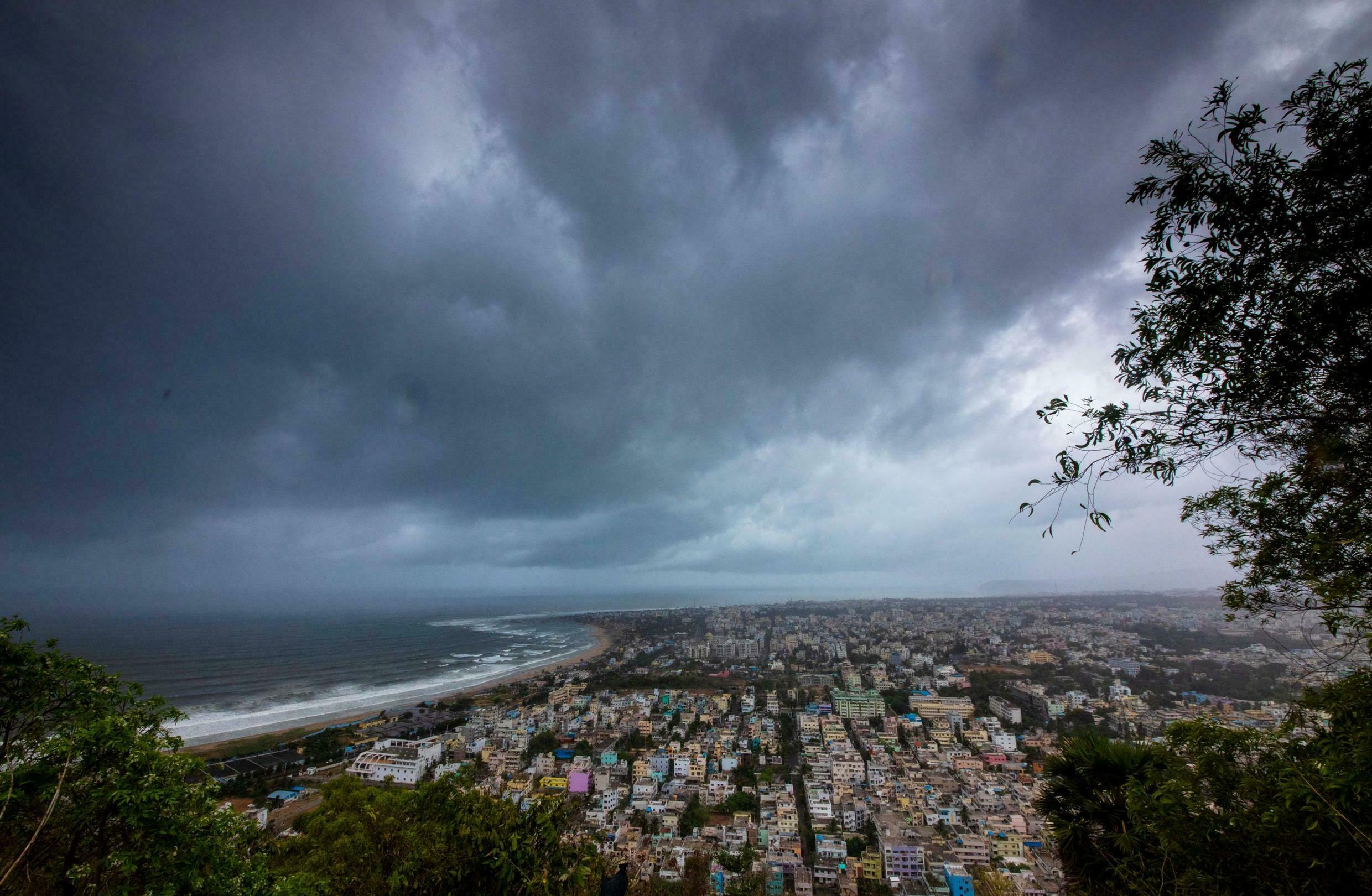 Clouds loom ahead of cyclone Fani in Visakhapatnam, India, May 1, 2019.