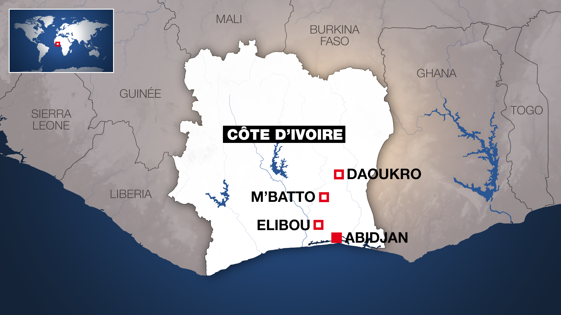 M'Batto, Daoukro et Elibou ont été le théâtre de violences meurtrières ces dernières 48 heures.