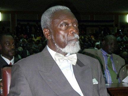 L'ancien président centrafricain, Ange-Félix Patassé, en décembre 2008.