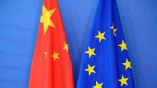 中国、欧盟旗帜