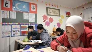 伊斯坦布尔郊区一所维吾尔学校2019年11月29日