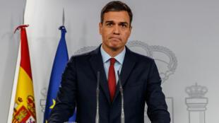 Le Premier ministre espagnol Pedro Sanchez lors d'une conférence de presse le 24 novembre 2018.