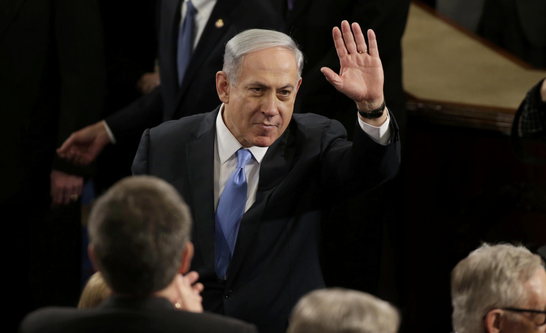 El primer ministro israelí, Benjamín Netanyahu, a su llegada al Congreso,  Washington, 3 de marzo de 2015.