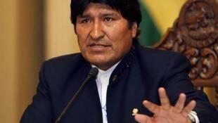 Le scrutin de ce dimanche est aussi un test pour le président Evo Morales, ici lors d'une conférence de presse à La Paz, le 26 septembre 2011.