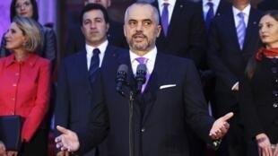 Le Premier ministre albanais, Edi Rama, le 15 septembre 2013 à Tirana.