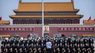 Chine - Tiananmen - policier - parti communiste