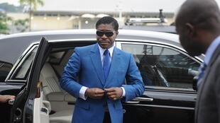 Teodorin Nguema Obiang Mongue, Equatorial Guinea president's son, in Malabo in 2013
