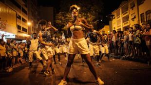 A escola de Samba Unidos da Vila Isabel  durante um ensaio para o Carnaval do Rio 2017.  Rio de Janeiro .19.02.2017