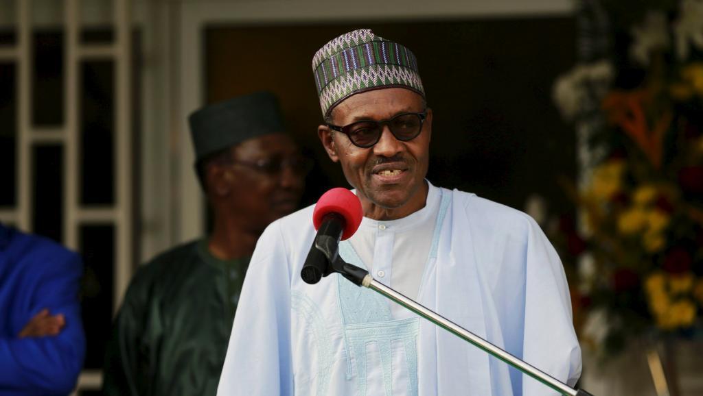 Rais wa Nigeria Muhammadu Buhari, katika mkutano wa kilele Abuja kuhusu vita dhidi ya Boko Haram, Abuja Juni 11 mwaka 2015.
