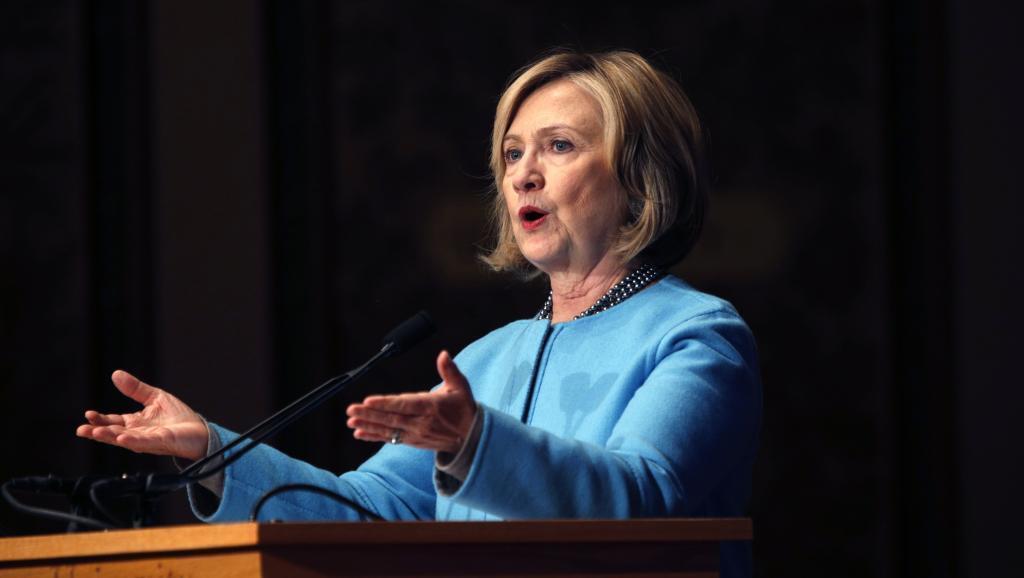 Hillary Clinton pensait déjà l'emporter en 2008, avant d'être battue par Barack Obama à la primaire démocrate. Ici, à l'université de Georgetown le 3 décembre 2014.