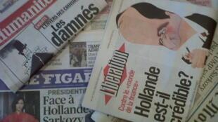 Capas dos diários franceses 24 de Janeiro de 2012