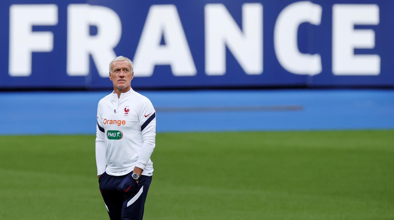 Le sélectionneur de l'équipe de France, Didier Deschamps, lors d'un entraînement des Bleus au Stade de France le 6 septembre 2020 à Saint-Denis