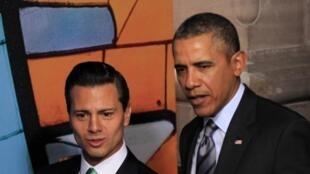 Le président Barack Obama et son homologue mexicain Enrique Peña Nieto, le 19 février à Toluca au Mexique.