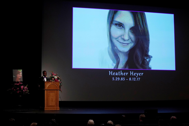 不幸遭到新納粹分子殺害 32歲的希瑟·海耶告別儀式資料圖片