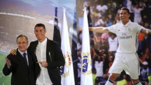 Cristiano Ronaldo tare da Shugaban Real Madrid Florentino Perez
