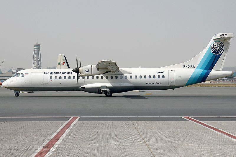 Um avião da companhia Aseman Airlines.
