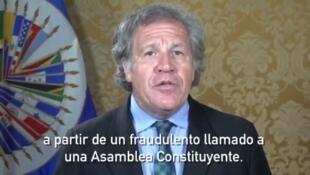Luis Almagro, jefe de la Organización de Estados Americanos (OEA).