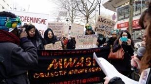 Coletivo afro-feminista no bairro parisiense de Belleville