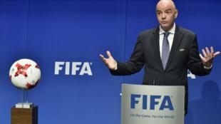 Shugaban hukumar FIFA, Gianni Infantino.