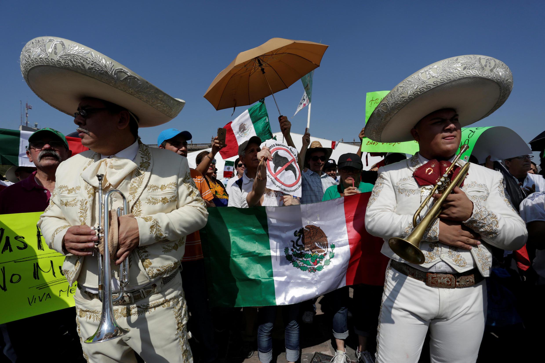 Một cảnh biểu tình chống tổng thống Mỹ Donald Trump ở Monterrey, Mêhicô, ngày 12/02/2017.