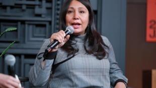 La réalisatrice saoudienne Haifaa Al Mansour au festival de Sundance le 31 janvier 2020.