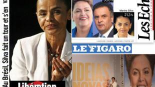 Os jornais franceses Le Figaro, Les Echos e Libération destacam eleições no Brasil.