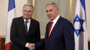 Ministan harkokin wajen Faransa  Jean-Marc Ayrault da firaministan Isra'ila Benjamin Netanyahu