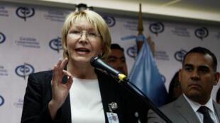 La procureure générale de la République du Venezuela, Luisa Ortega Diaz, lors d'une conférence de presse à Caracas le 24 mai 2017.