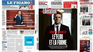 A imprensa francesa desta terça-feira 4 de julho analisa o discurso do presidente Emmanuel Macron diante do Congresso que se reuniu em Versalhes nesta segunda-feira (03).