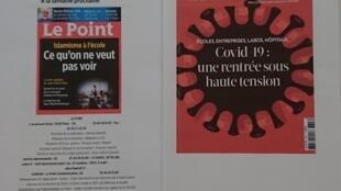 Semanários franceses  29 08 2020