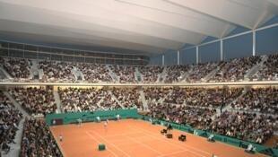Mô hình sân Roland-Garros được nâng cấp có mái che và có sức chứua 5 nghìn người