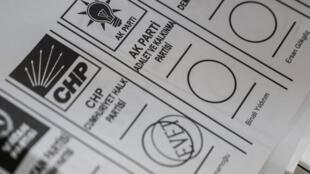 Bulletin de vote pour les élections municipales à Istanbul, le 31 mars 2019. Un scrutin qui se rejoue le 23 juin prochain.