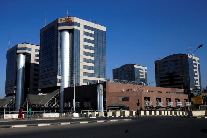 Ginin kamfanin mai na Najeriya NNPC a Abuja babban birnin Kasar.