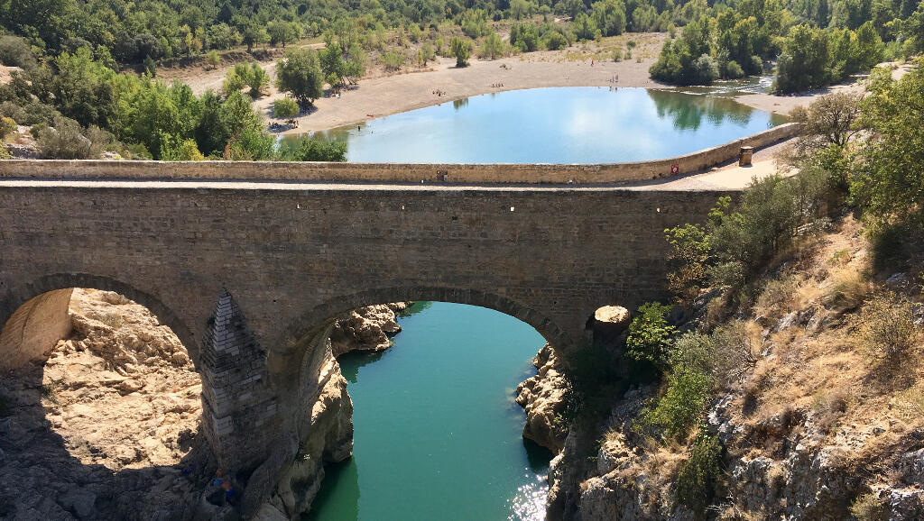 Pont du Diable, Unesco-listed, in Hérault in the south of France
