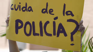 A protest against police inaction, last month in Mexico.