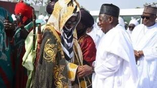 Sanusi Lamido Sanusi tare da gwamnan Kano, Abdullahi Umar Ganduje
