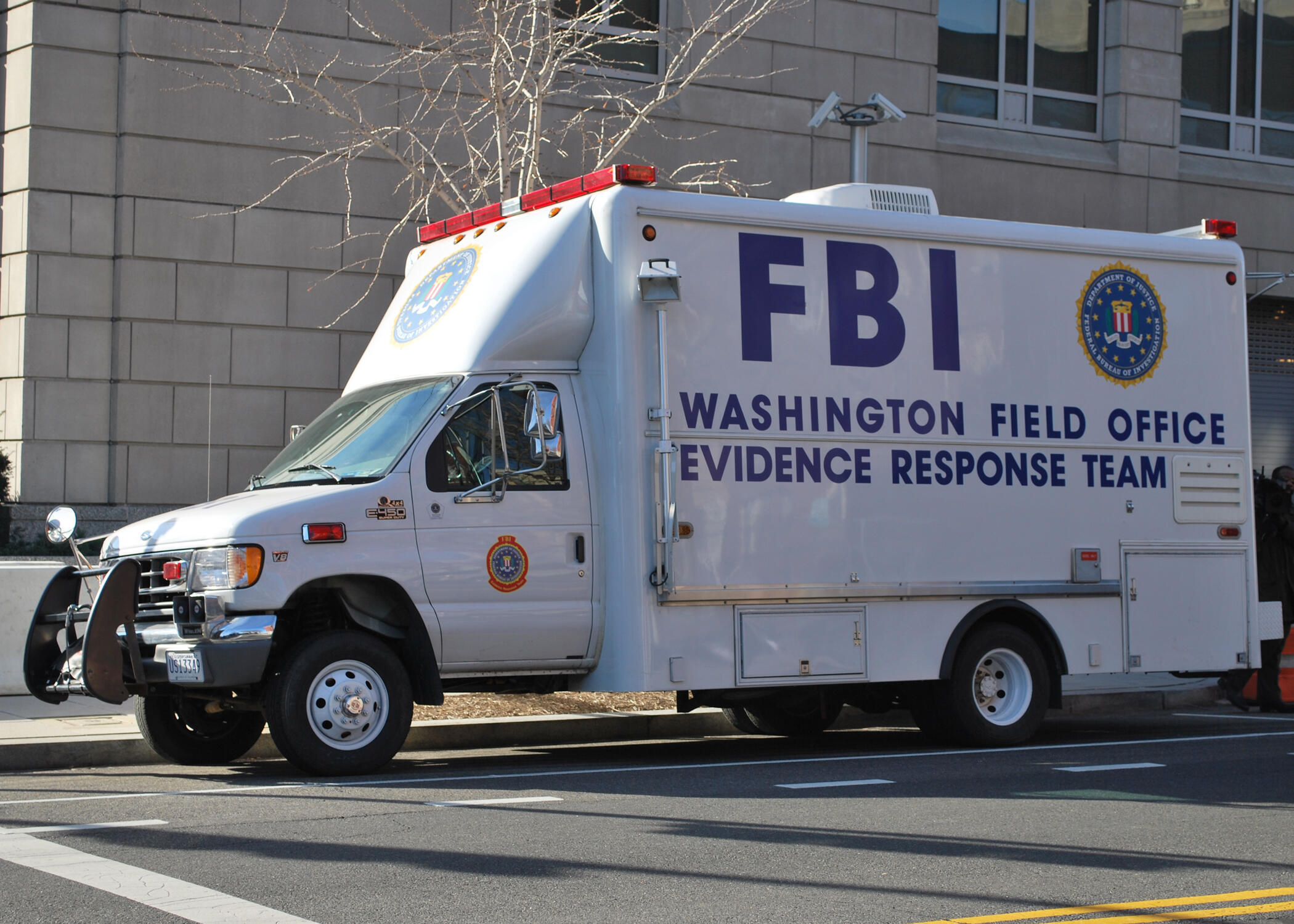 Передвижная лаборатория экспертов-криминалистов ФБР в Вашингтоне