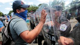 Une manifestation anti-gouvernementale à Managua, le 16 septembre 2018.