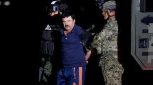 """Mlanguzi sugu wa madawa ya kulevya """"El Chapo"""", Mexico Januari 2016."""
